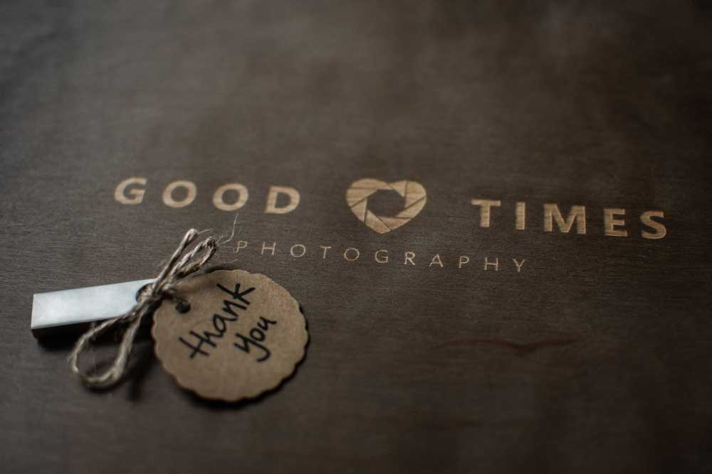 Good Times Photography Holzbox Thank You Danke USB Stick