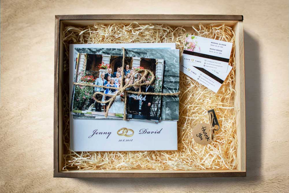 Good Times Photography Holzbox Thank You Danke USB Stick Fotos